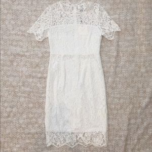NWT Anthropologie six crisp days white lace dress